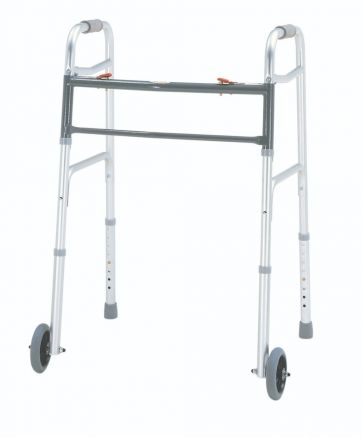 Bariatric Aluminum Folding Walker, Two Button with 5