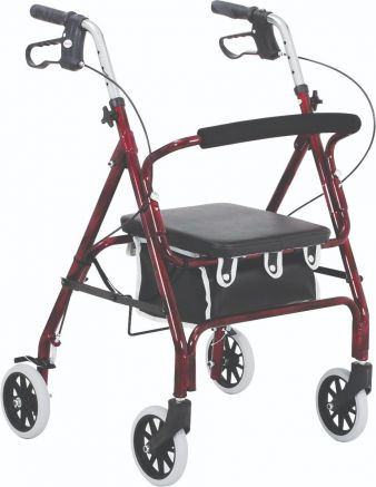 Junior Rollator 4-Wheeled, Alum., Loop Brake, 6