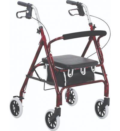 Junior Rollator 4-Wheeled, Alum., Loop Brake, 6