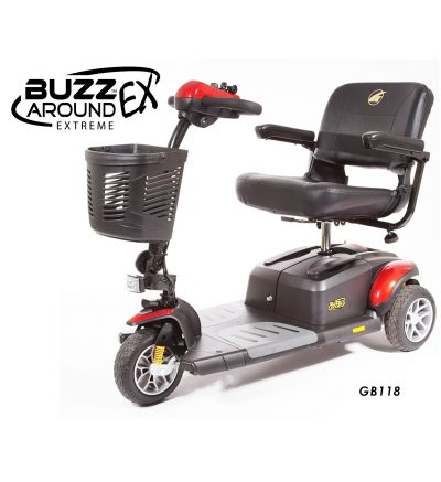 Buzzaround Extreme 3 Wheel Compact Travel Scooter